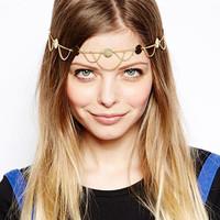 European and American trade with Super shiny hair accessories tassel chain waves tiara women  headband hair accessories