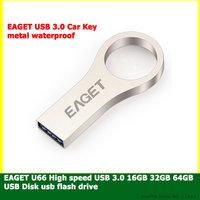 EAGET USB 3.0 16GB 32GB 64GB usb flash drive  pen drive Fashion High-speed USB 3.0 metal waterproof Ring U disk