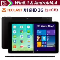 2015 Original Teclast X16HD 3G Dual Boot Tablet PC 10.6 Inch 2GB 32GB Intel Z3736 Retina Screen Windows8.1 Android 4.4 HDMI OTG