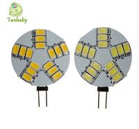 Tanbaby 15led SMD 5730/5630 light bulb 5W G4 corn bulb DC12V energy saving chandelier lamp indoor led bulb lamps white