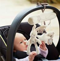 MaMas Papas Baby Toys Stroller Rabbit Hanging Rattle Bunny Plush Musical Mobile