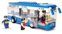 Sluban City Bus Plastic Building Blocks 235pcs bricks DIY Enlighten Model car Kits Building Bricks Compatible with Lago toys