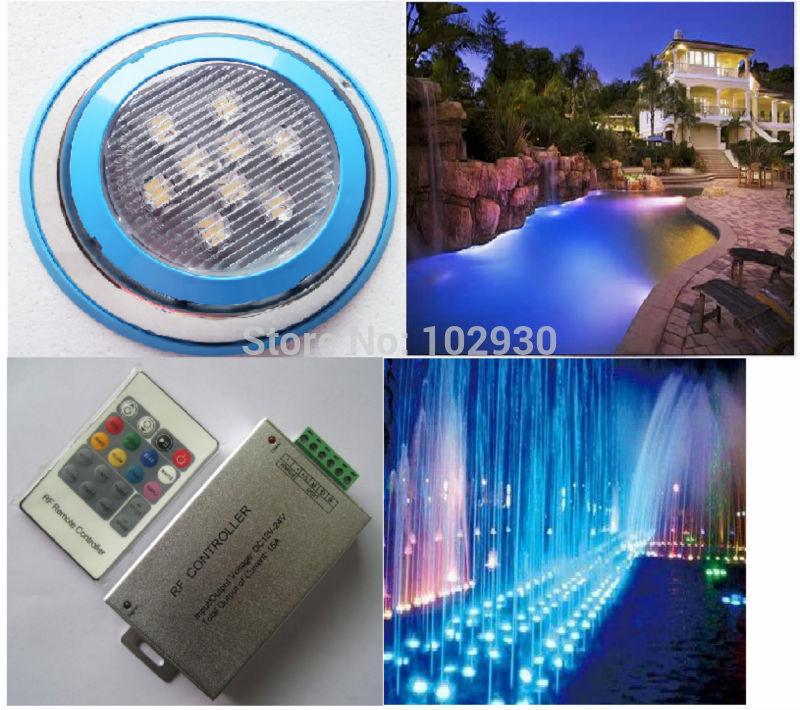 27W RGB ,Wireless remote control,Swimming pool light,Underwater led Light,underwater Swimming pool led light,(China (Mainland))