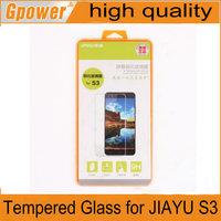Free shipping original JIAYU S3 screen protector JIAYU S3 Tempered Glass for JIAYU S3 film sreen saver for jiayu g3 screen
