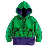 Boys Children Hoodies Hulk Jacket Cartoon Super Hero Costume Hoodie Kids Cute Spring Outerwear Clothing Coat  Drop Free Shipping