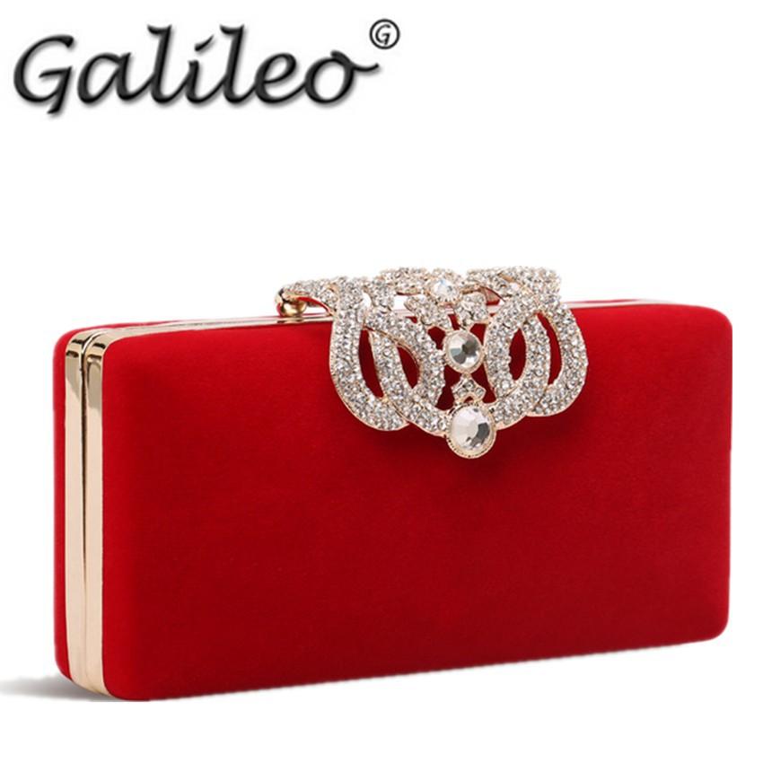 AliExpress.com Product - Luxury Diamond 2015 new Women Evening Bags Designer Party Clutch Rhinestone Wedding Crown Velvet Bridal bling Princess Handbag