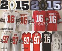 2015 Bcs Diamond Quest Ohio State Buckeyes #97 Joey Bosa #16 J.T Barrett kids jersey,cheap youth NCAA College football jerseys