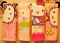 3pcs/lot 2014 NEW  Cotton Hello Kitty Children Baby Towel Soft Handkerchief Cartoon