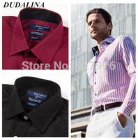 2014  camisa masculina shirt camisa DUDALINA roupas casual men male imported clothing xadrez blusa masculina