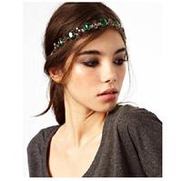 Luxe Emerald Rhinestone Headband New Fashion Hair Jewelry for Women Faux Stone Headband BJN902007