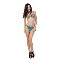 Beautiful Print and Sequin Bandeau Bikini Push Up Biquinis Women Sexy Swimsuit Biquines De Praia