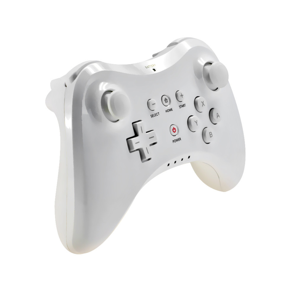 2015 New White Wireless Classic Pro Controller Gamepad for Nintendo Wii U + USB Cable Free Shipping(China (Mainland))
