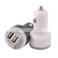 2pcs/lot Universal 2.1A Dual USB Car Charger Adapter Charge Adapter for iPhone 5 5S 6 4S for iPad for Samsung Galaxy S5 S4 S3