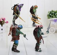 Ninja Teenage Mutant Turtles Tmnt Action Figure Toys Lot Set New 4PCS/lot  2014 Movie teenage mutant ninja turtles weapons