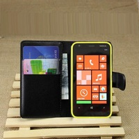 """NWT Flip pu leather Case for Flip leather cases For nokia lumia 620 3.8"""" cell phone protective bags covers with cards-holder"""