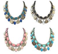 New Handmade Bohemia Coin Choker Necklace Ethic Bib Necklace Street-chic Fashion Jewelry BJN912343