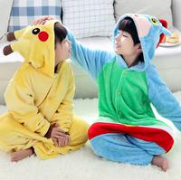 2015 New Super Soft Children's Cartoon and Animal Flannel Pajamas for Boys & Girls winter Pajamas Kids Onesies Birthday Gifts