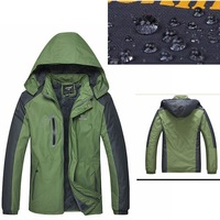 2015 Outdoor High Quality Warm Winter Man Windproof Jacket Waterproof Hiking Clothes Keep Warm Quick dry