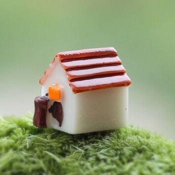 Sale1 шт мини прекрасный дом 1.5 * 1.5 см волшебный сад миниатюры гномов мосс террариум домашнего декора ремесла бонсай домашнего декора для DIY