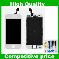 No dead pixel!!!!!! Black and White Free DHL  50 PCS Quality A  LCD Display Touch Screen Digitizer Assembly For Iphone 5C 5S 5G