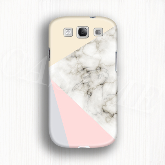 Pastel marbel geometric 3d phone case for galaxy s3 Matte or Glossy(China (Mainland))