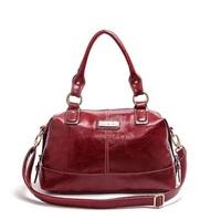 2015 High Quality Fashion Brand Designer Ladies Big Boston Pillow Handbag Women Leather Shoulder Messenger Bag 6034