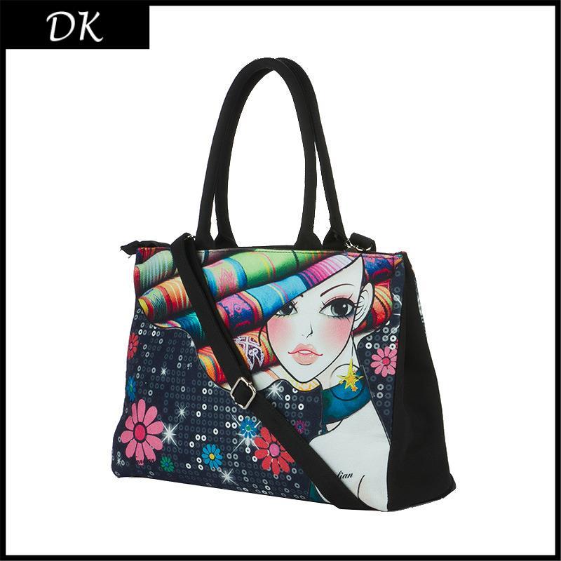 AliExpress.com Product - Women Handbag Rose Girl Digital Hand Painted Leisure Cloth Bag 2015 New Canvas Shoulder Tide Package Print Bags