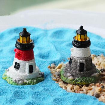 Продажа 1 шт. мини смола маяк 3.5 см волшебный сад миниатюры гном мосс террариум домашнего декора ремесла бонсай домашнего декора для DIY