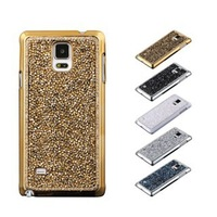 Hot Sale Luxury Colorful Bling Diamond Crystal Back Electroplate Case Cover For Samsung Galaxy Note 4 Free Shipping