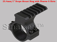"25.4mm Ring Scope Adaptor PICATINNY/weaver/universal 20mm RAIL 1"" Barrel Mount Hunting Accessories"