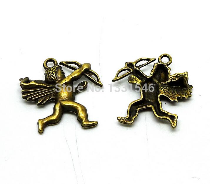 Charms angle Cupid 50pcs Size 25 30mm No QT16507 Free Shipping DIY Retro Jewelry Accessories Zinc