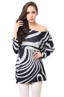 2015 free shipping Fashion Striped Big Size Casual vestidos free size women clothing  dress Loose Sexy Shirt Dress