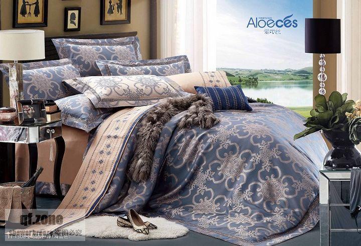 Europeu jacquard conjunto de cama king size 4 pc de moda de nova roupas de cama de luxo conjunto de roupa de cama capa de edredão(China (Mainland))