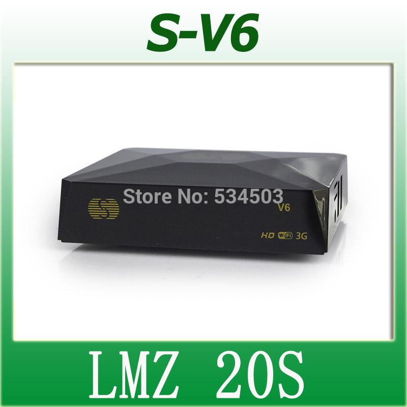 100pcs Original S V6 S-V6 Mini Satellite Receiver HD(China (Mainland))