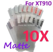 10PCS MATTE Screen protection film Anti-Glare Screen Protector For Motorola XT910 RAZR