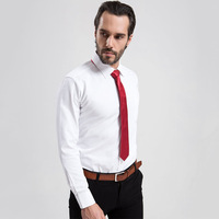 Cheap and Fine Men's Twill Dress Shirt Long Sleeve Male Business Formal Shirts plus size