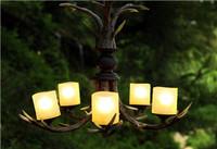Deer Pendant Lamp Antlers Chandelier Lighting European Vintage American Country Garden Living Roomlights Villa Restaurant Bar