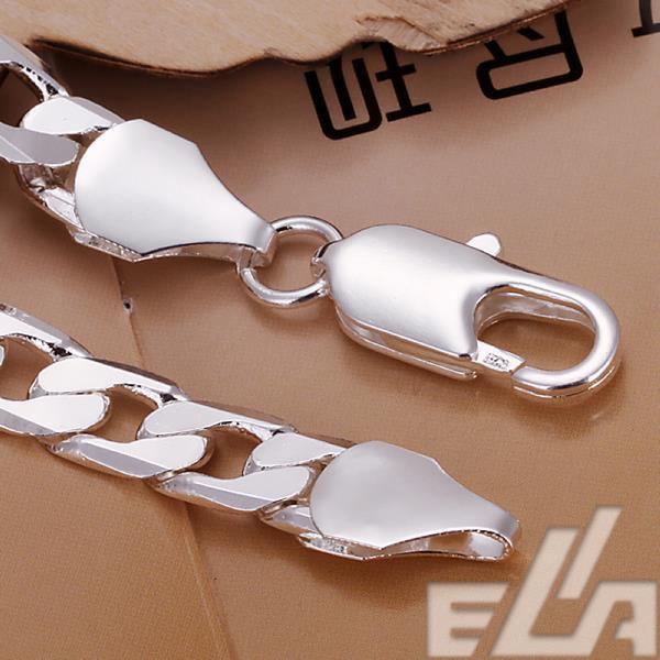 2015 Latest Figaro chain men Jewellery 10mm 925 silver bracelet Sale wholesale
