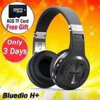 Bluedio H+ Bluetooth Headphones Wireless Stereo Headset Handsfree Headband Earphone Support FM Radio TF Card - 8GB Card Free