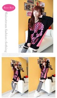 HOT Women Loose Blouse Tees T-shirts Tops Vintage Fluorescent Street Batwing Long Sleeve Clothing Shirts 2 Color B11 CB036382