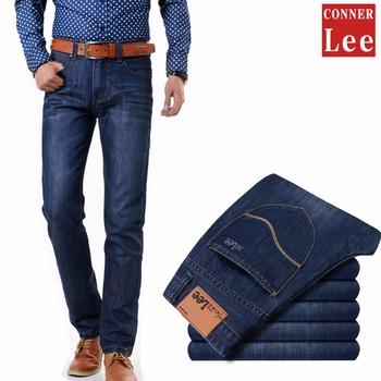 Коннер ли мода джинсы мужчин высокое качество узкие джинсы хлопок pantalones прямые ...