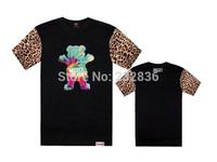 brand diamond supply co men grizzly t shirt leopard print  t-shirt men summer tshirt hip hop casual shirt camisa masculina tops