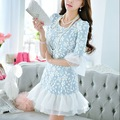 Brand Women Clothing Spring Dress New 2015 Fashion Romantic Gauze dress DABUWAWA Vestido Vestidos