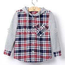 2015 hot new children clothes boys girls unisex shirt/blouse spring casual shirt plaid warm shirts thickening kids warm hoodies(China (Mainland))