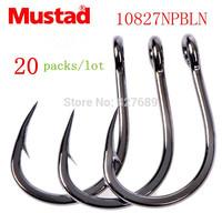 20 packs mustad hooks for sea fishing  10827 np #  jig hook jigbaits