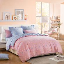 LOVO Olivia Pink Wave Point 100% Cotton Bedding set Bedspread Duvet Cover Sets Bed sheet/linens(China (Mainland))