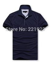 Large-size S-6XL2015 summer new men short sleeve T-shirt fashion classic solid color t-shirt lapel sweatshirt - m -20 color