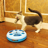 Creative Funny Pet Kettle Cat Toy Spring Mice Crazy Training Amusement Disk Multifunctional Disk Play Activity Free Shipping