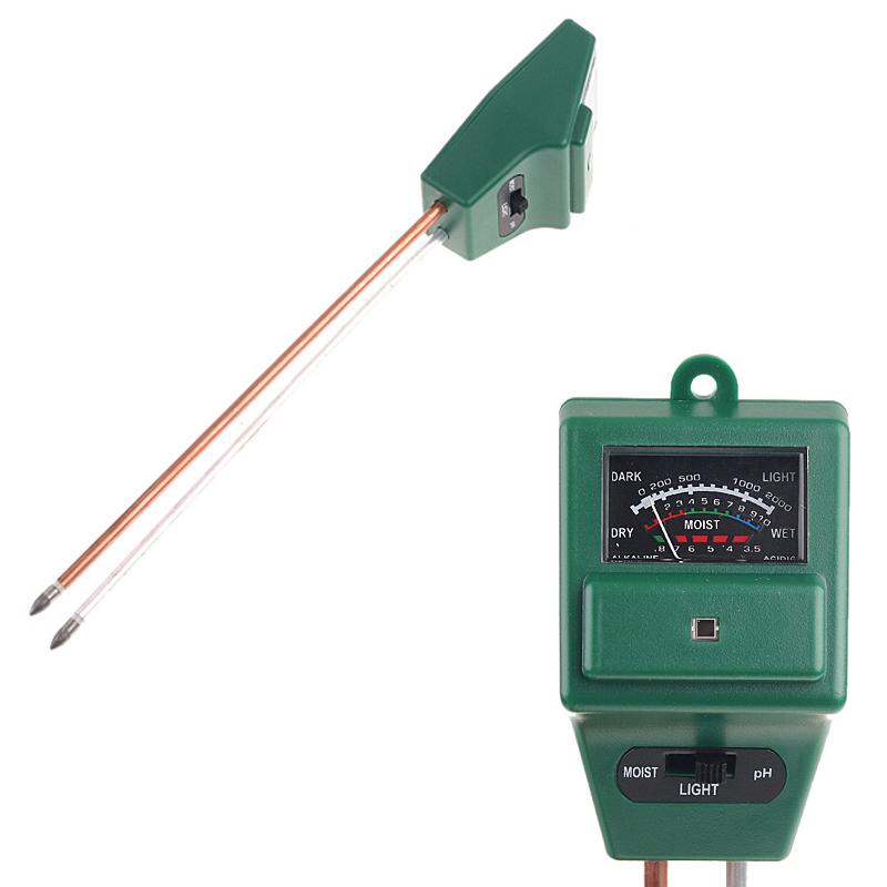 Garden Soil Moisture Meter Tester Light Luxmeter PH Meter Drop Shipping(China (Mainland))