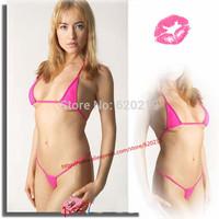 Women transparent triangle bandage brazilian Sexy MIcro Bikinis swimwear Set Bra Top G-String Thong ladies lingerie Underwear